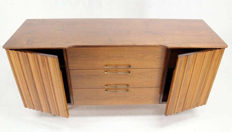 Mid-Century Modern Mid Century Danish Modern Long Walnut Dresser For Sale