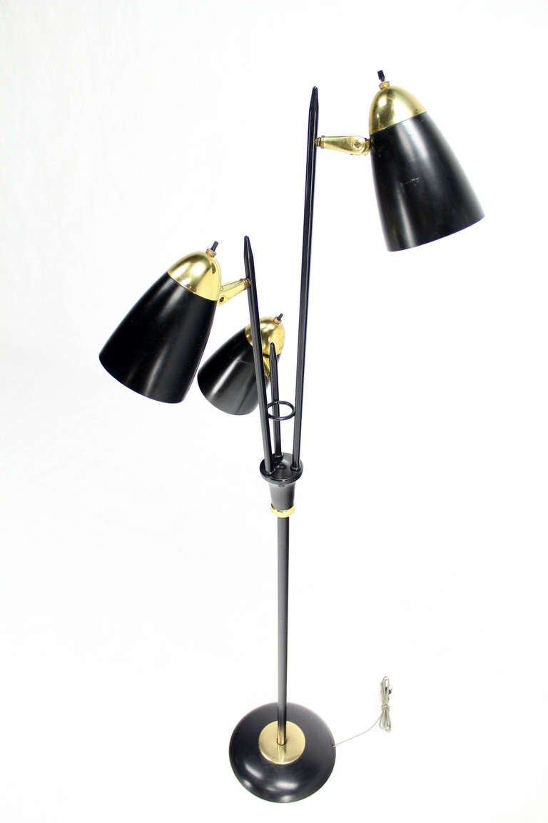 mid century modern floor lamp at 1stdibs. Black Bedroom Furniture Sets. Home Design Ideas