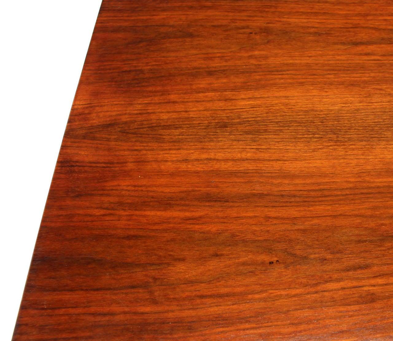 Mid-Century Modern Danish Mid Century Modern Walnut Long Credenza Dresser with Sliding Door For Sale