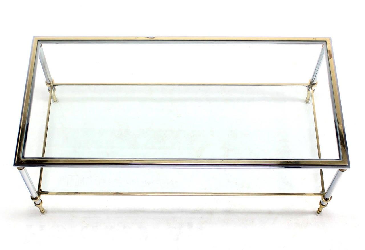 Modern Rectangular Coffee Table : ... -Top Mid-Century Modern Rectangular Coffee Table For Sale at 1stdibs