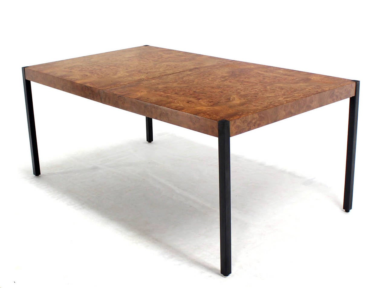 Burl Wood Dining Table With Two Extension Boards By Baughman At 1stdibs