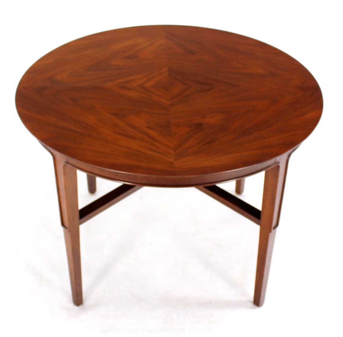 Mid Century Rose Wood Side Table Or Small Coffee Table For: John Stuart Mid-Century Modern Walnut Round Side Table At