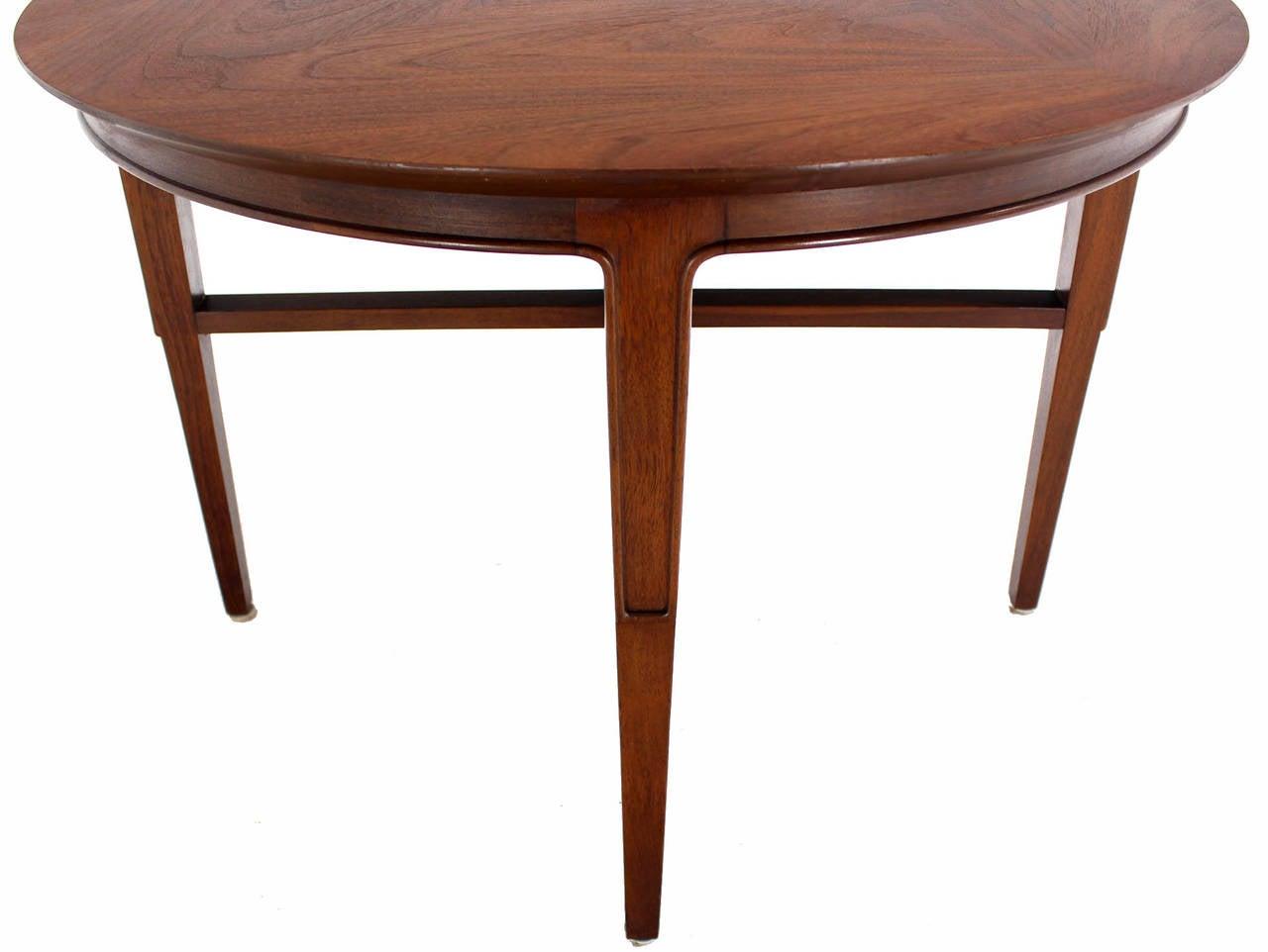 John Stuart Mid-Century Modern Walnut Round Side Table at 1stdibs