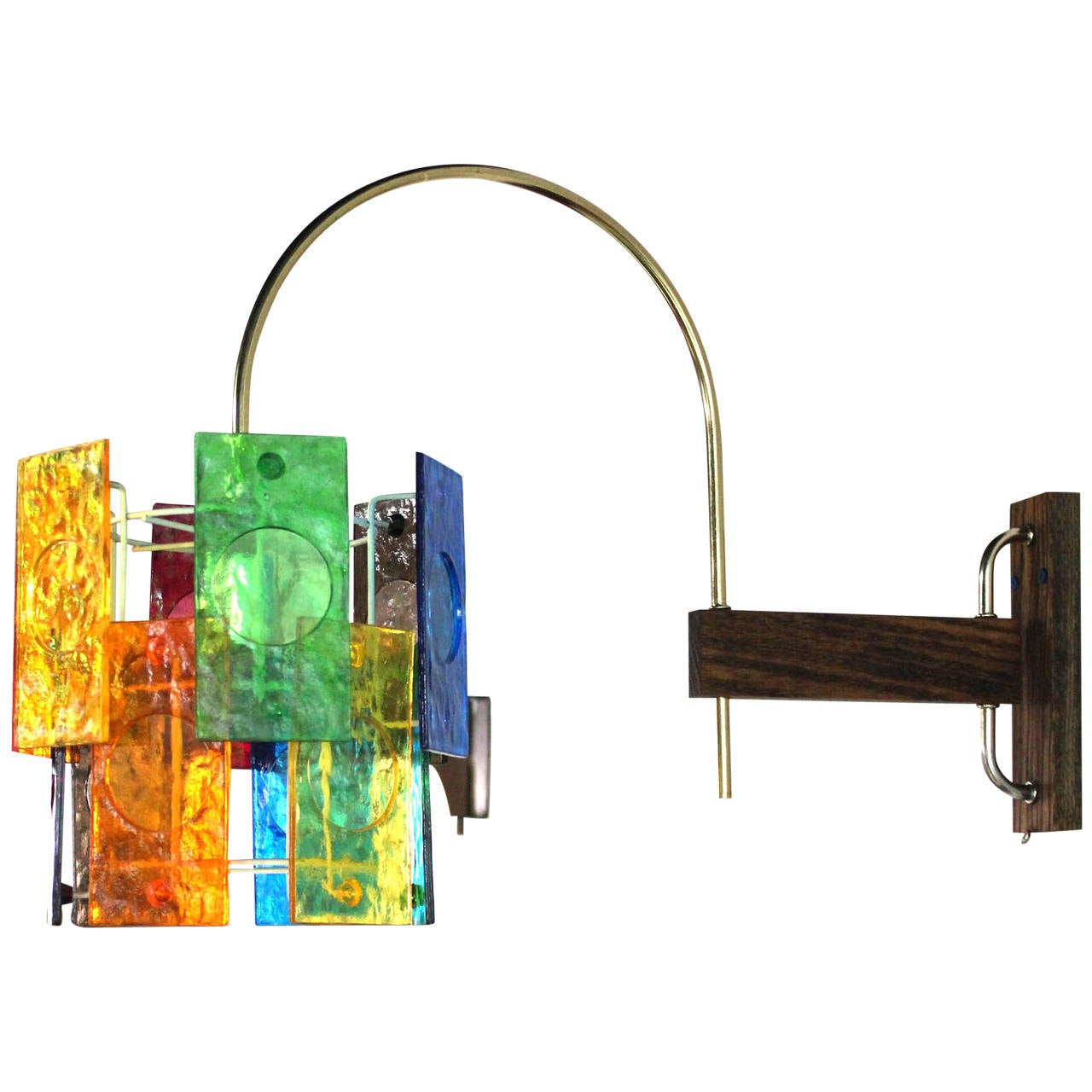 mid century modern colorful wall sconce light fixture at