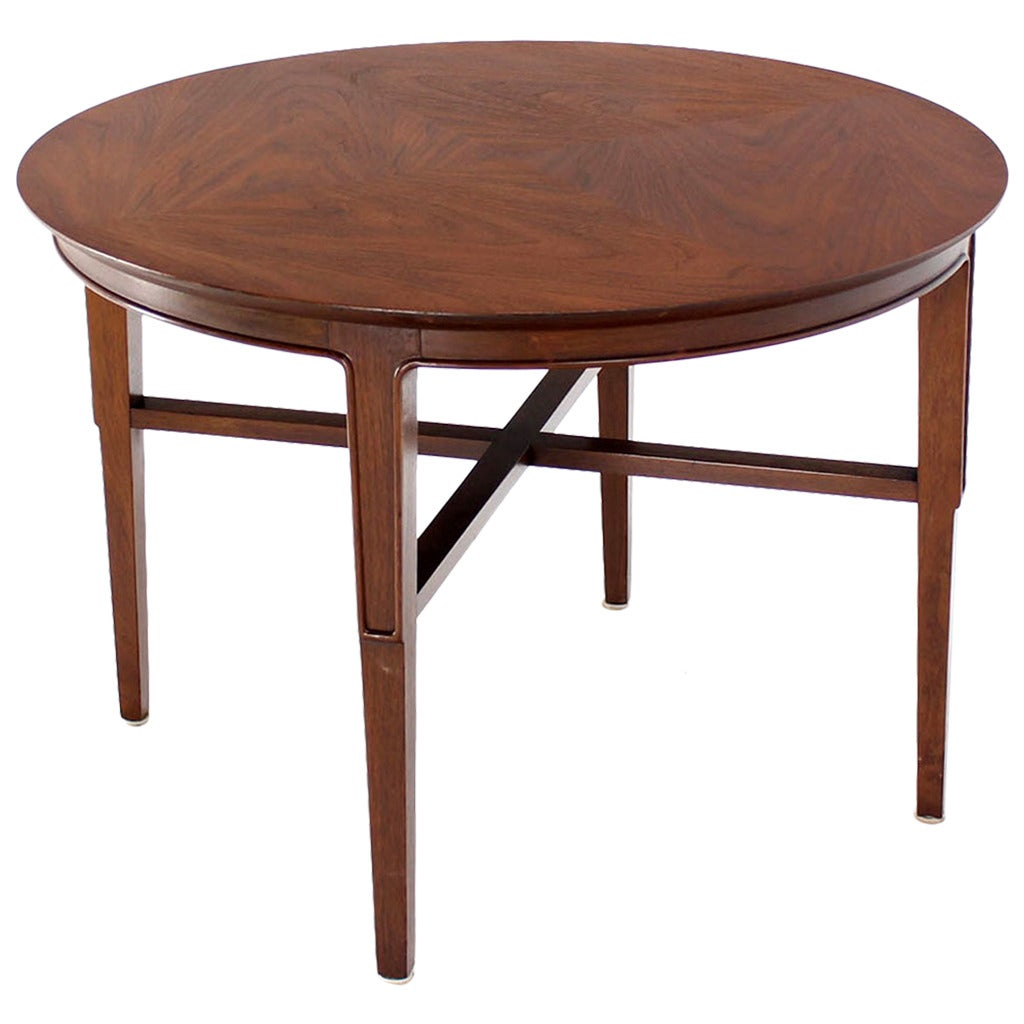 John Stuart Mid Century Modern Walnut Round Side Table At 1stdibs