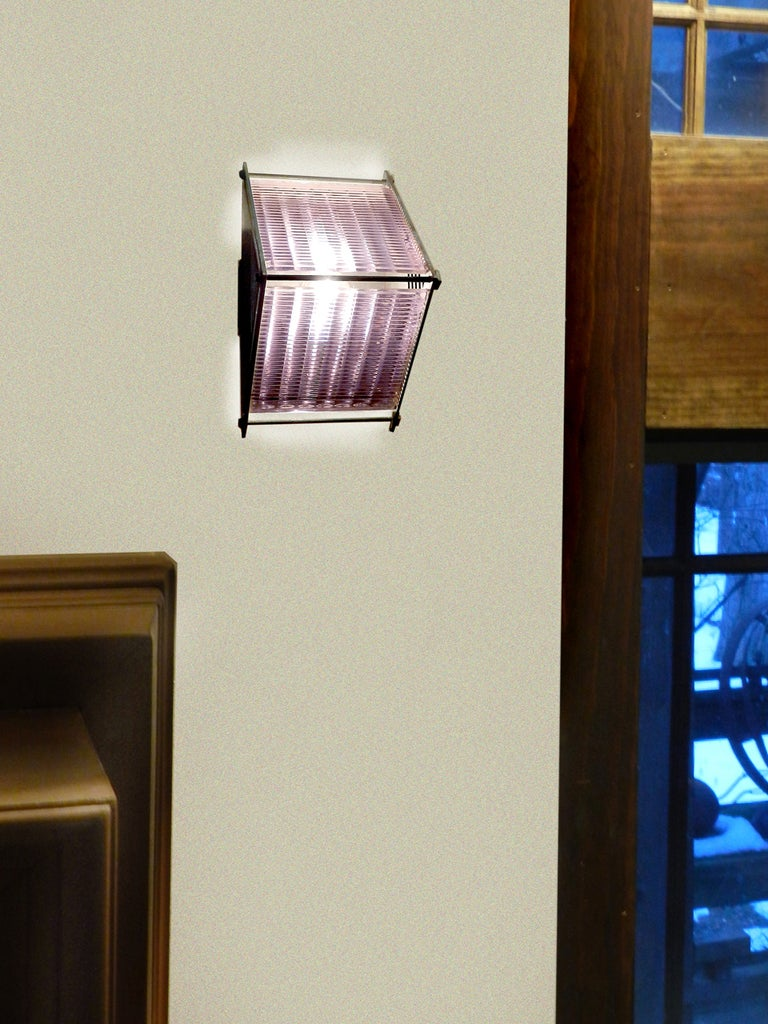 Luxfer Prism Glass Lamps- Sconce or Pendent at 1stdibs