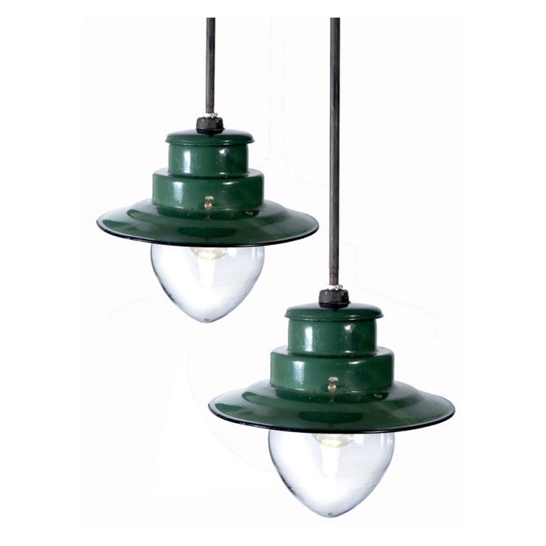 Porcelain Train Station Lamps Large Collection