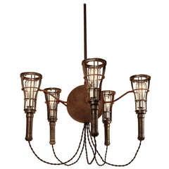 Large Cage Light Chandelier