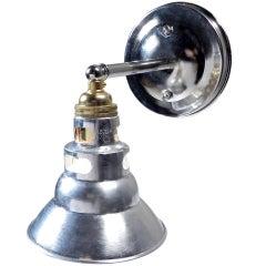 Mini Brass and Aluminum Spot Sconce