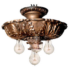 Solid Bronze Four-Bulb Theater Lamp