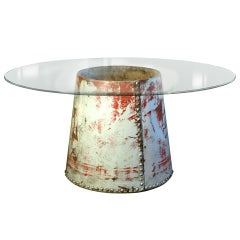 Table With Heavy Riveted Industrial Base