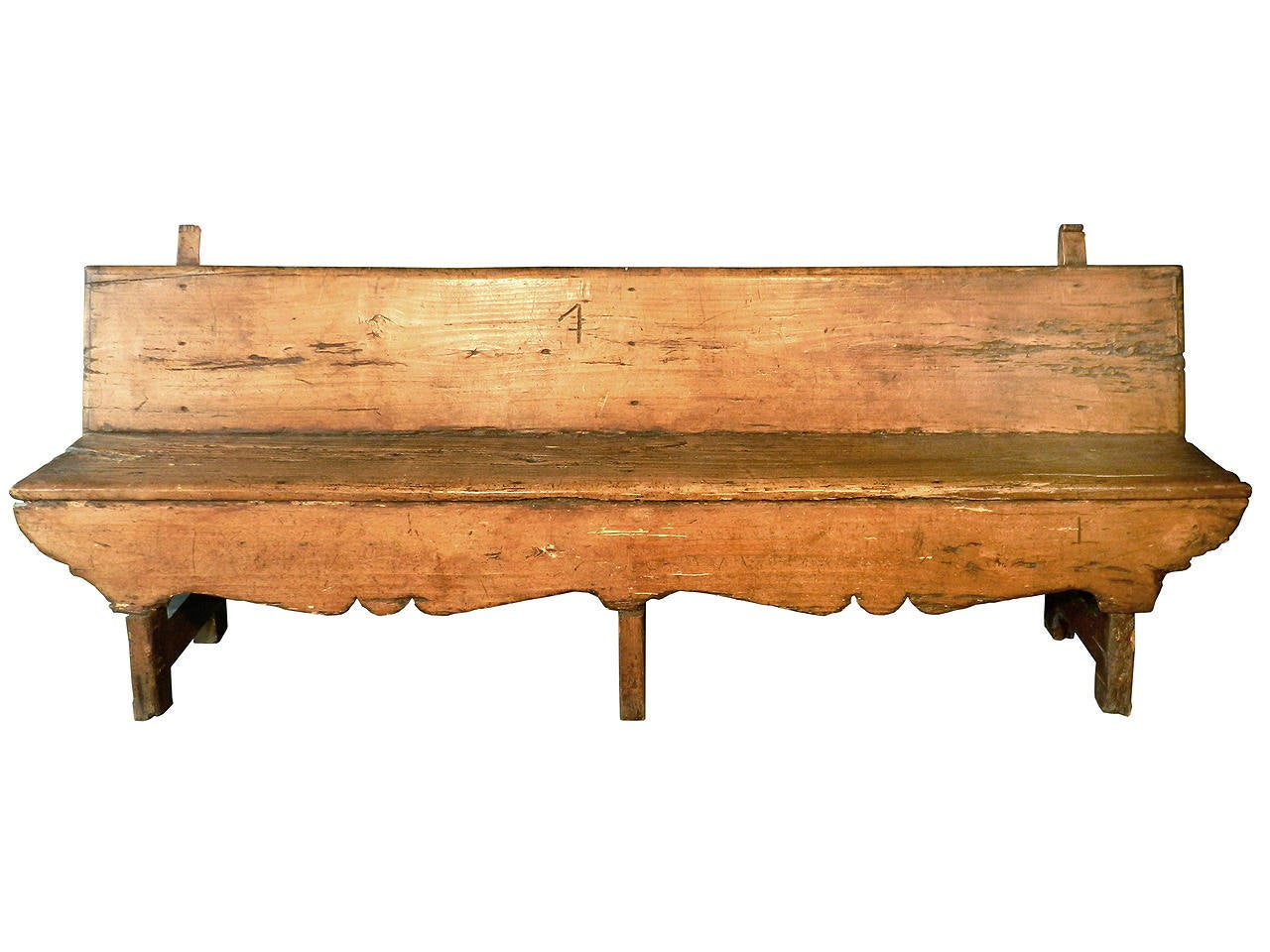 18th Century Primitive Bench At 1stdibs