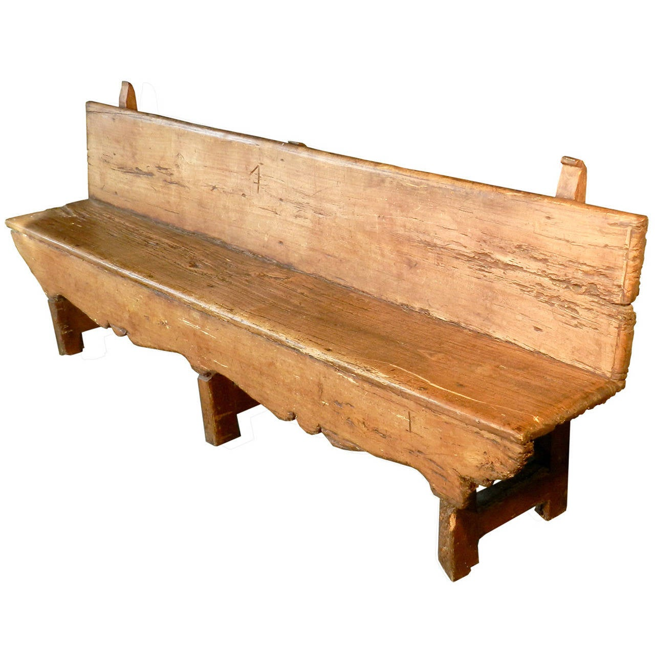 18th Century Primitive Bench For Sale at 1stdibs