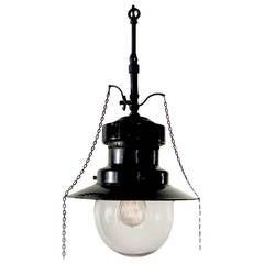 Electrified Porcelain Gas Lamp