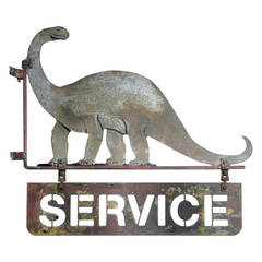 Very Early Dino Service Station Sign