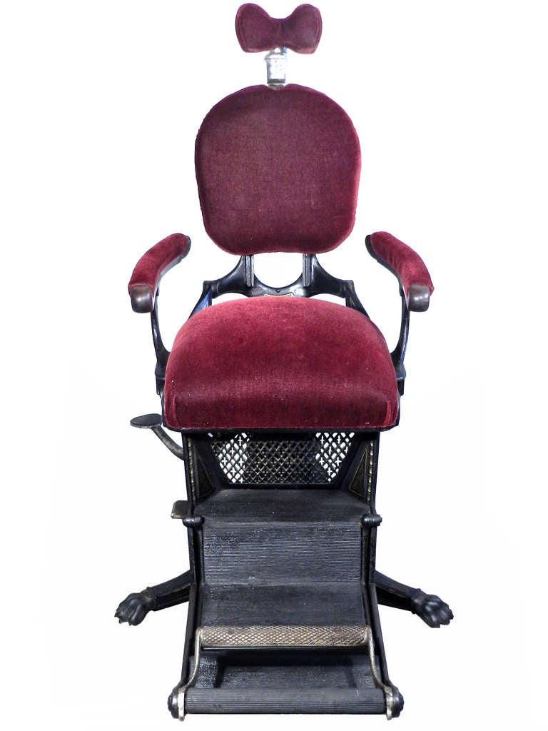 1800s Museum Quality Dental Chair 4