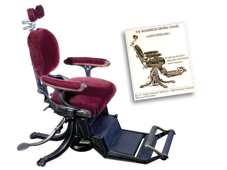 1800s Museum Quality Dental Chair 5