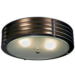 Simple Round Vented Flushmount or Pendent