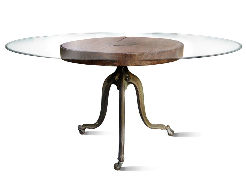 Adjustable Industrial Height Dining or Bar Table 200  : 883812920968105 from www.1stdibs.com size 1024 x 768 jpeg 33kB