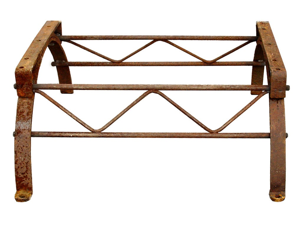 Early Industrial Hand Wrought Iron Coffee Table At 1stdibs