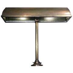 1911 I. P. Frink, Large Bronze Bank Desk Lamp