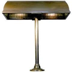 I. P. Frink Bronze Bank Desk Lamp, 1911