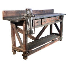 Early Workbench With Amazing Patina