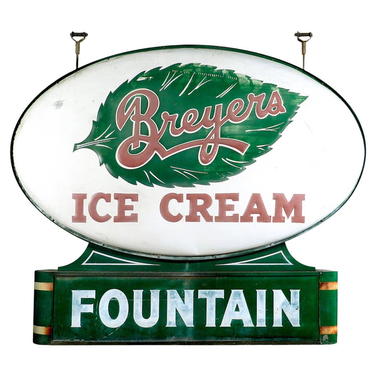 Art Deco Soda Fountain Sign 1