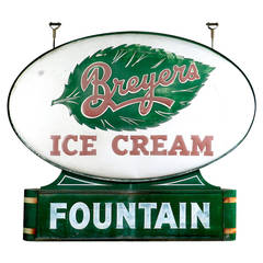 Art Deco Soda Fountain Sign