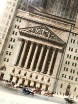 1922 New York Stock Exchange Building Print