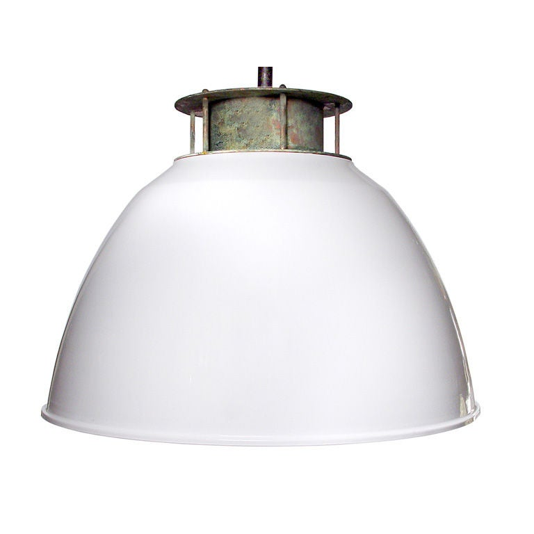 striking oversized industrial dome pendent l at 1stdibs