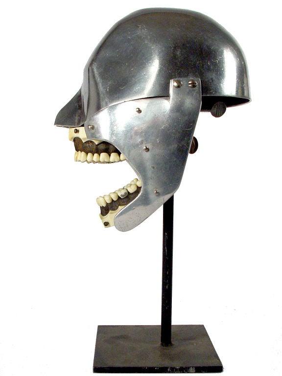 20th Century Aluminum Dental Teaching Mannequin
