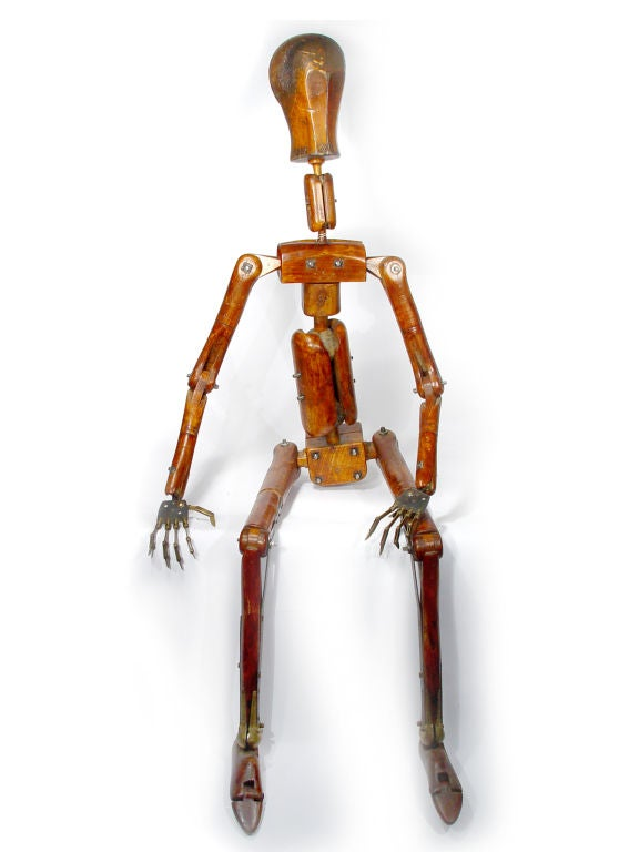 1800's Life-Size Articulated Artist's Mannequin For Sale 2