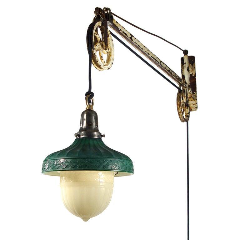 All Original Swing Arm Dental Pulley Lamp At 1stdibs