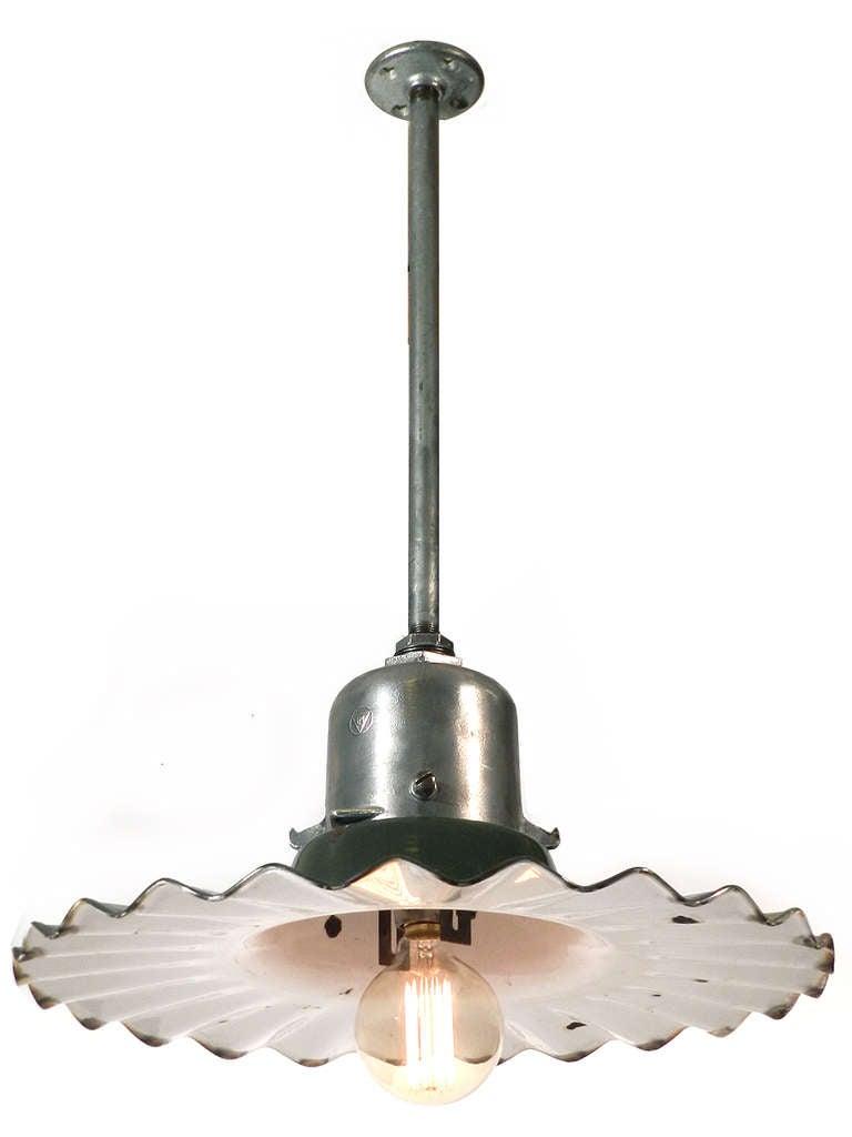 1920s radial wave street lamp for sale at 1stdibs. Black Bedroom Furniture Sets. Home Design Ideas