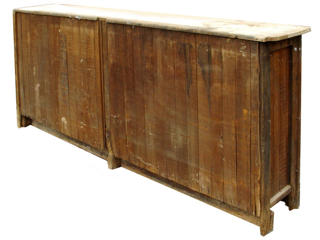 Primitive eight foot long wall cabinet at stdibs