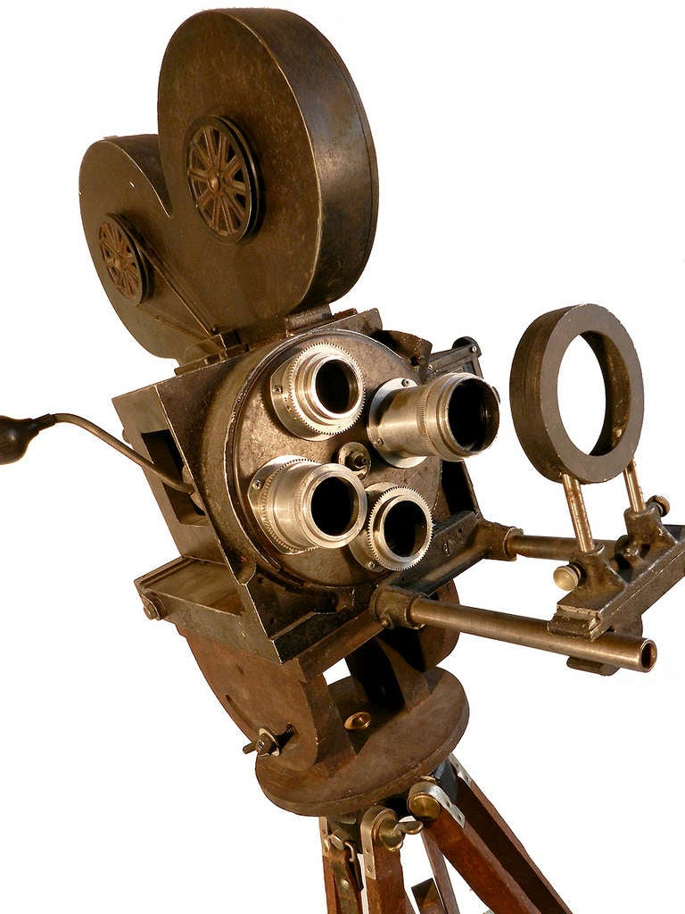 hand crank news reel camera movie prop at 1stdibs