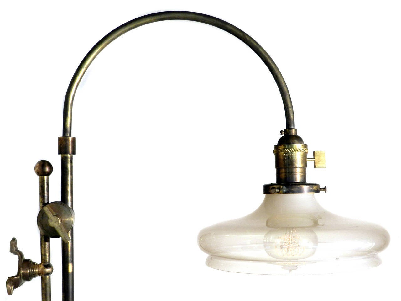 Adjustable Arched Wall-Mounted Lamp For Sale at 1stdibs