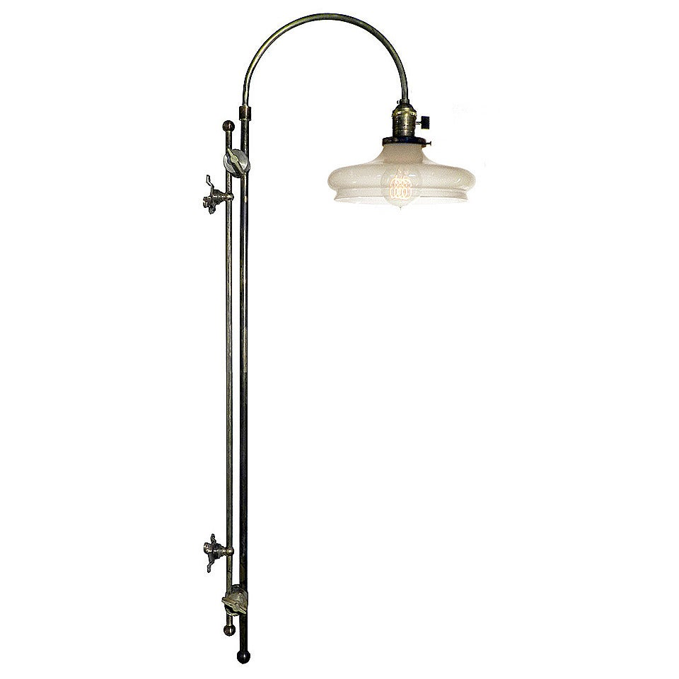Wall Mounted Adjustable Lamps : Adjustable Arched Wall-Mounted Lamp For Sale at 1stdibs