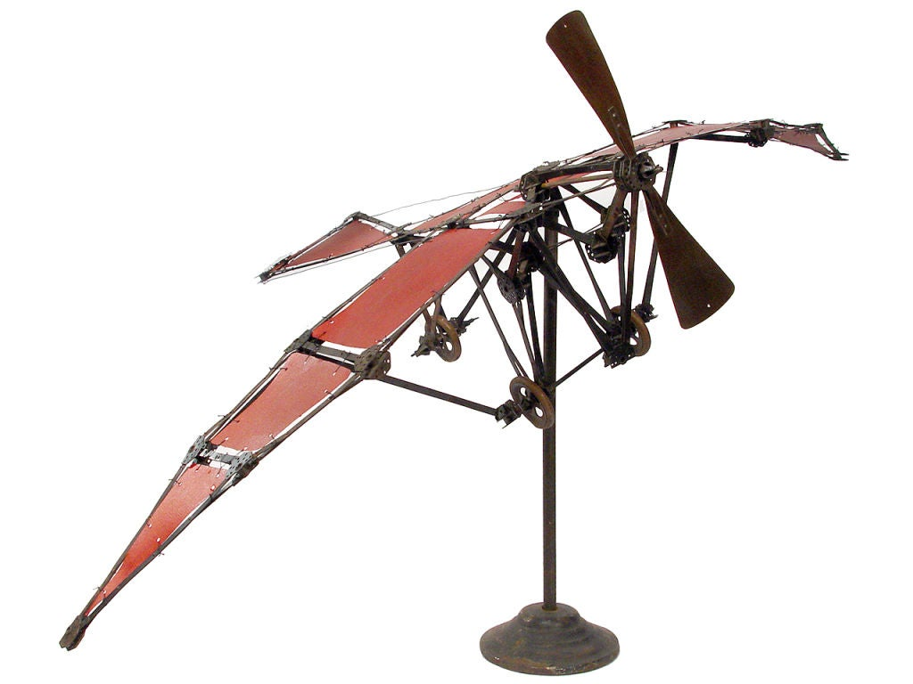 20th Century Very Early Airplane Model