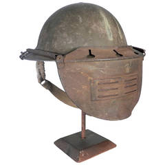 Rare British WWII Visor Helmet