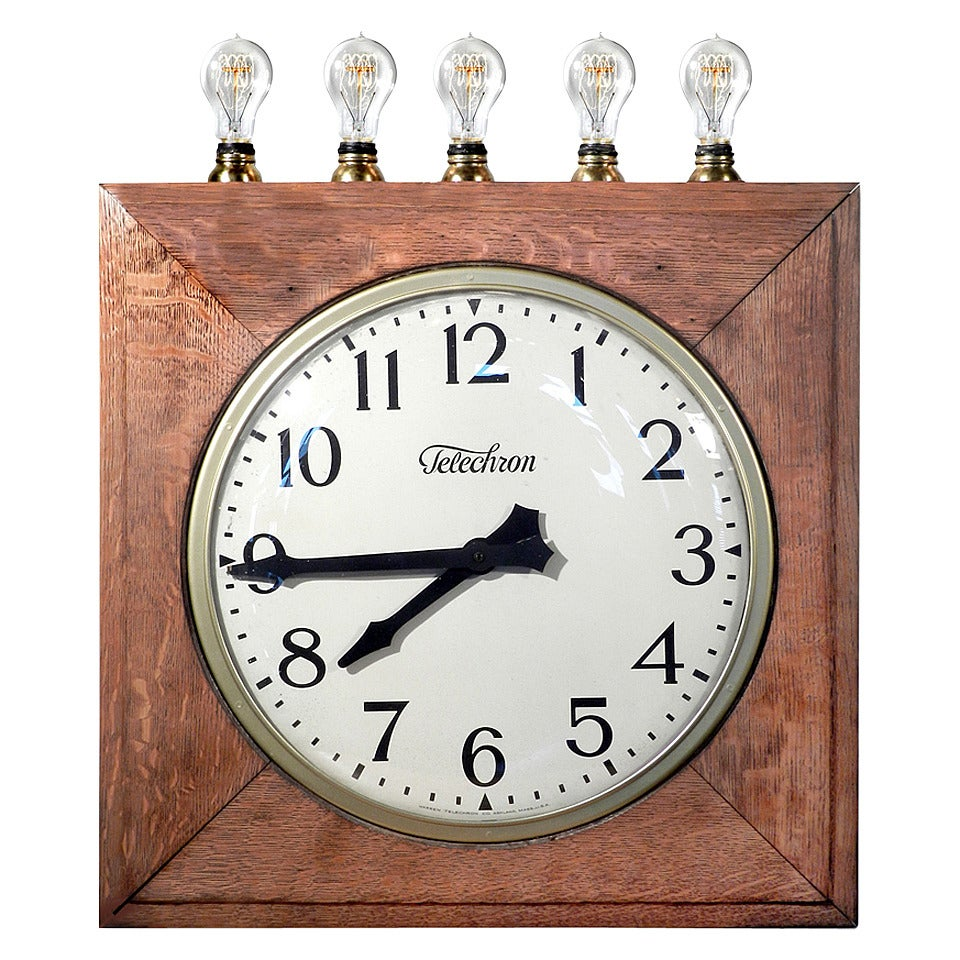 Large Train Station Clock With Track Indicators At 1stdibs
