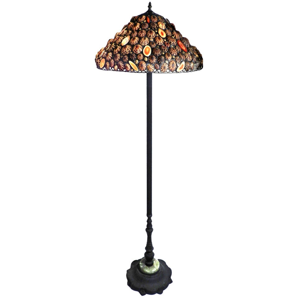 Beautiful sea shell and agate floor lamp at 1stdibs for Beautiful floor lamps