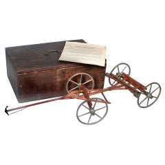 1857 Patent Model - Self Acting Wagon Breaking System