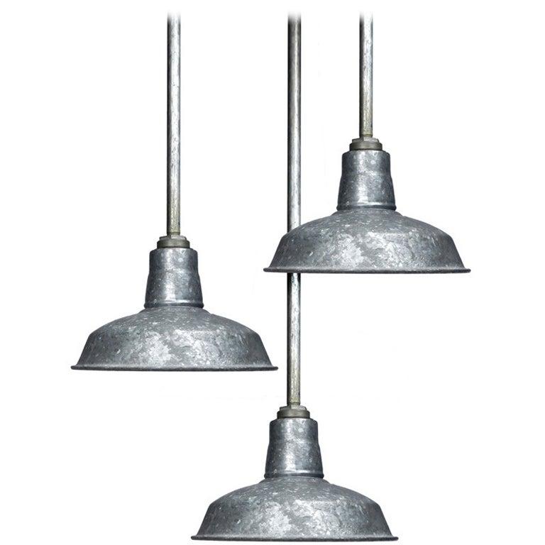 galvanized industrial lights at 1stdibs. Black Bedroom Furniture Sets. Home Design Ideas