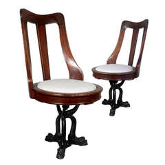 Early Swivel Yacht Chairs - Matching Pair