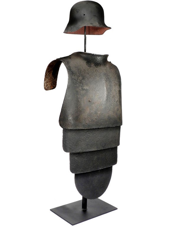 Rare WW1 Lobster Tail Armor at 1stdibs