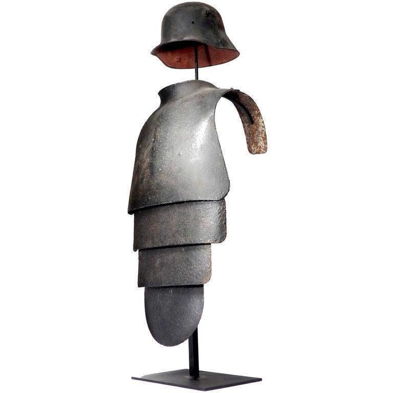 Rare WW1 Lobster Tail Armor at 1stdibs