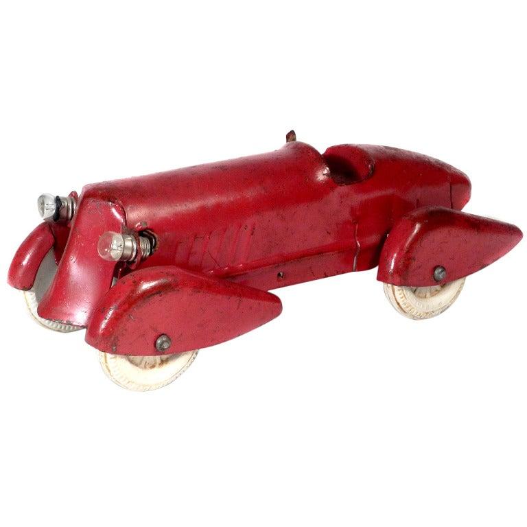 1930s pressed steel streamlined racing car for sale at 1stdibs. Black Bedroom Furniture Sets. Home Design Ideas