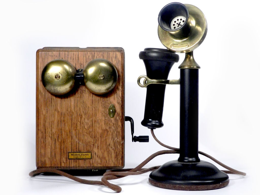 1910 Hid A Phone Desk Sculpture Plus Telephone At 1stdibs